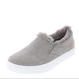 Brash Women's Devonne Gray Fur Slip-On Size 9